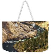 Yellowstone River Canyon Weekender Tote Bag