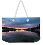 Yellowstone River Sunrise Colors Weekender Tote Bag
