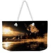 Yellowstone River Sunrise Weekender Tote Bag