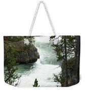 Yellowstone Waterfall Weekender Tote Bag