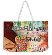 Yes You Can Weekender Tote Bag