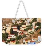 Yialos Town On Symi Island Weekender Tote Bag