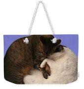 Yin And Yang Weekender Tote Bag