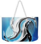 Yin And Yang Whale Weekender Tote Bag