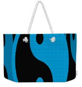 Yin Yang Blue Mosaic Weekender Tote Bag