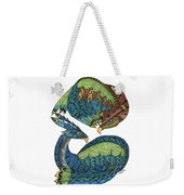 Yin Yang Dragons Weekender Tote Bag by Barbara McConoughey