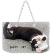 Yoga - Cat Weekender Tote Bag
