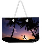 Yoga At Sunset Weekender Tote Bag