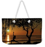 Yoga By The Bay At Sunset Weekender Tote Bag