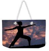 Yoga Sunset Weekender Tote Bag