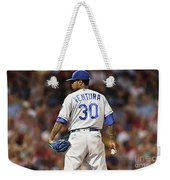 Kansas City Royals, Yordano Ace Ventura,  Painting, Forever Blue Weekender Tote Bag