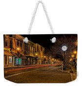 York South Carolina Downtown During Christmas Weekender Tote Bag