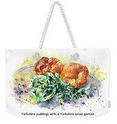 Yorkshire Puddings With Yorkshire Salad Garnish Weekender Tote Bag