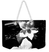 Yosemite Dogwoods Black And White Weekender Tote Bag