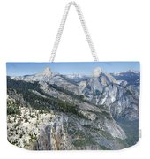 Yosemite Falls And Valley From Eagle Tower Detail - Yosemite Weekender Tote Bag