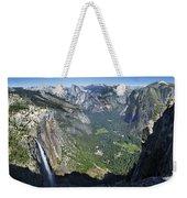 Yosemite Falls And Valley From Eagle Tower - Yosemite Weekender Tote Bag