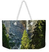 Yosemite Falls With Late Afternoon Light In Yosemite National Park. Weekender Tote Bag