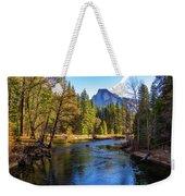 Yosemite Merced River With Half Dome Weekender Tote Bag