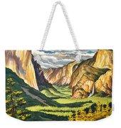 Yosemite Park Vintage Poster Weekender Tote Bag