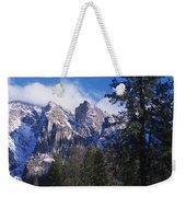Yosemite Three Brothers In Winter Weekender Tote Bag