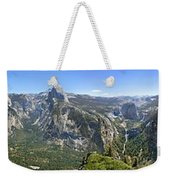 Yosemite Valley Panorama From Union And Glacier Points Weekender Tote Bag