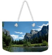 Yosemite Valley View X Weekender Tote Bag