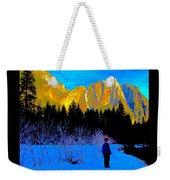 Yosemite Valley Winter Walk Weekender Tote Bag