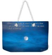 You Are My Moon Weekender Tote Bag