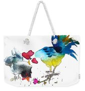 You Are My Sweet Heart Weekender Tote Bag by Miki De Goodaboom