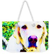 You Are My World - Yellow Lab Art Weekender Tote Bag