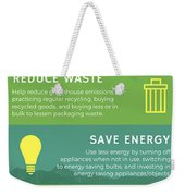 You Can't Stop Climate Change Weekender Tote Bag