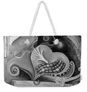 You Caught My Heart Black White Weekender Tote Bag