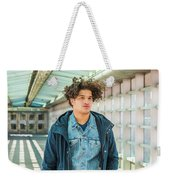 Young American College Student In New York Weekender Tote Bag