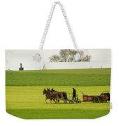 Young Amish Farmer Weekender Tote Bag