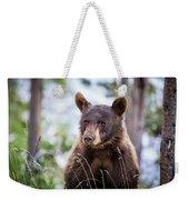 Young Black Bear Weekender Tote Bag