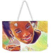 Young Black Female Teen 5 Weekender Tote Bag