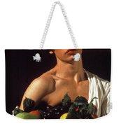 young boy Caravaggio Weekender Tote Bag