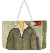 Young Boy With Red Hair Weekender Tote Bag by Amedeo Modigliani