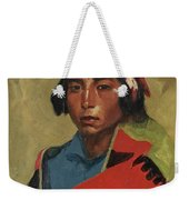 Young Buck Of The Tesuque Pueblo Weekender Tote Bag
