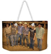 Young Bull Riders Portrait Weekender Tote Bag