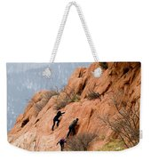 Young Climber In Red Rock Canyon Weekender Tote Bag