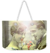 Young Couple Flirting Weekender Tote Bag