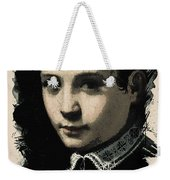 Young Faces From The Past Series By Adam Asar - Asar Studios, No 4 Weekender Tote Bag