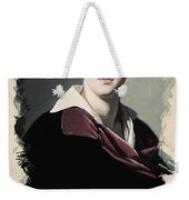 Young Faces From The Past Series By Adam Asar, No 10 Weekender Tote Bag