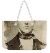 Young Faces From The Past Series By Adam Asar, No 101 Weekender Tote Bag