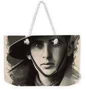 Young Faces From The Past Series By Adam Asar, No 104 Weekender Tote Bag