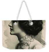 Young Faces From The Past Series By Adam Asar, No 105 Weekender Tote Bag