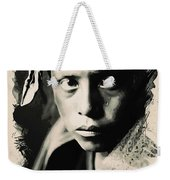 Young Faces From The Past Series By Adam Asar, No 109 Weekender Tote Bag