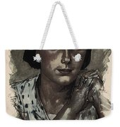 Young Faces From The Past Series By Adam Asar, No 112 Weekender Tote Bag