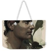 Young Faces From The Past Series By Adam Asar, No 115 Weekender Tote Bag